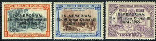 Sir Winston Churchill 3v; Year: 1965
