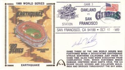 Will Clark autographed San Francisco Giants 1989 World Series cachet envelope
