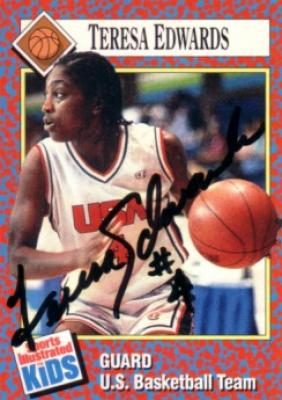 Teresa Edwards autographed USA Basketball 1991 Sports Illustrated for Kids card