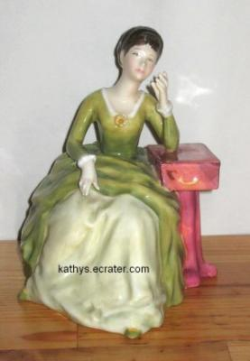 People: Vintage 1982 Royal Doulton Figurine Carolyn Sitting HN2974 Bone China England