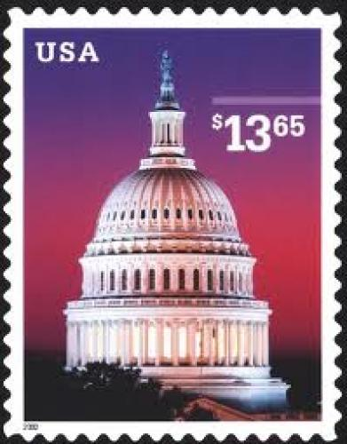 Stamps; July 30, U.S. Capitol at dusk. Single $13.65 self-adhesive