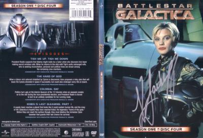 Katee Sackhoff autographed Battlestar Galactica DVD insert