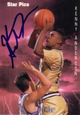 Kenny Anderson autographed Georgia Tech 1991 Star Pics card