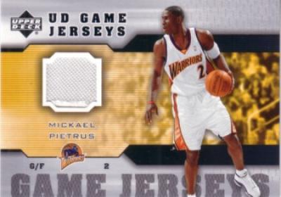 Mickael Pietrus 2005-06 Upper Deck Game Jersey Golden State Warriors card