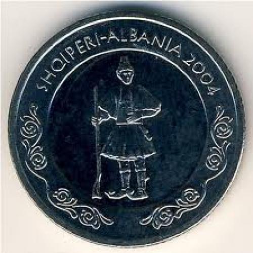 Coins;  Albania, 50 leke, 2004