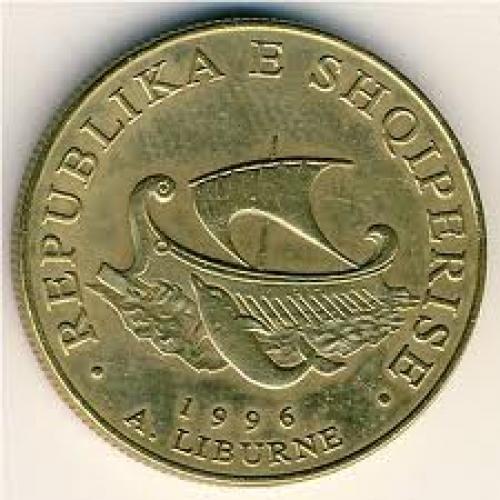 Coins;  Albania, 20 leke, 1996–2000 ...