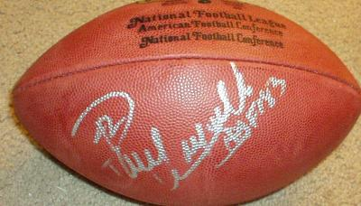 Paul Warfield autographed NFL game football