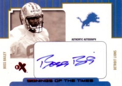 Boss Bailey certified autograph Detroit Lions Fleer card (#20/300)