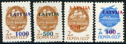 Overprints 4v; Year: 1991