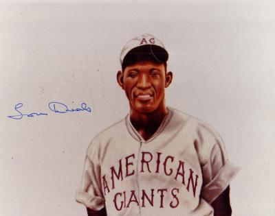 Lou Dials autographed Chicago American Giants 8x10 art print