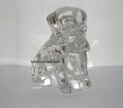 Container: Federal Glass Hollow Clear Candy Hound Beagle Sitting