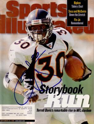 Terrell Davis autographed Denver Broncos 1998 Sports Illustrated