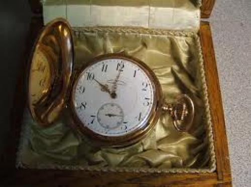 Watches;  Antique Solid Gold Pocket Watch By Union Horlogere