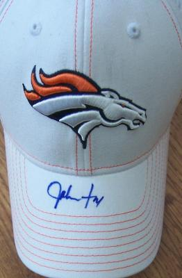 John Fox autographed Denver Broncos Reebok cap or hat