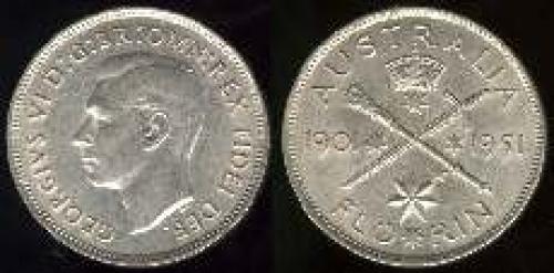 1 florin; Year: 1951; (km 47)