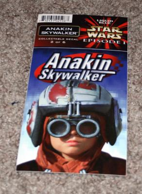 Anakin Skywalker Star Wars Episode 1 decal or sticker