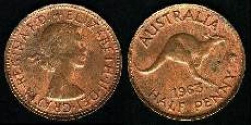 0,5 penny; Year: 1959-1964; (km 61)