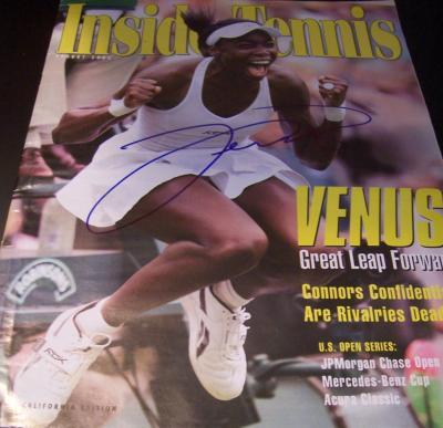 Venus Williams autographed 2005 Inside Tennis magazine