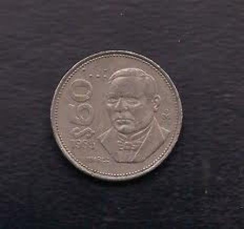 Coins;  Mexico 50 Pesos 1985 Coin KM# 495