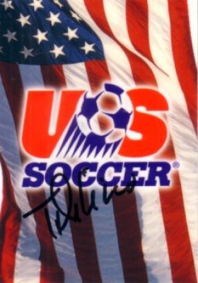 Tony DiCicco autographed US Soccer logo card