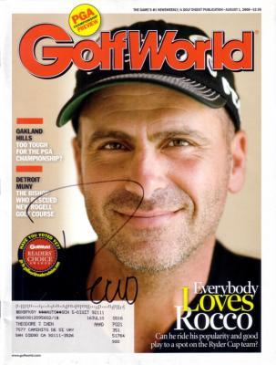 Rocco Mediate autographed 2008 Golf World magazine