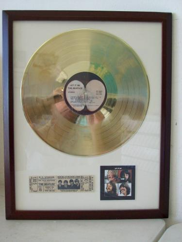 Beatles Let It Be Gold Plated Record LP Album Disc