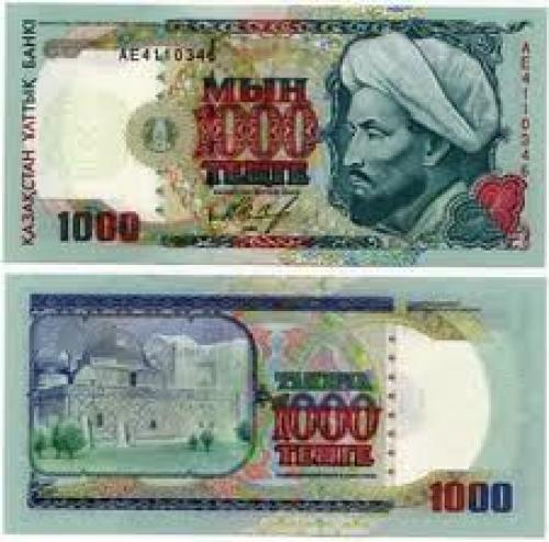 Banknotes; Kazakhstan 1000 Tehte Banknotes