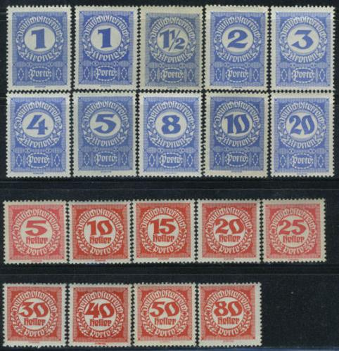 Postage due 18v; Year Issue: 1920; Austria Stamps