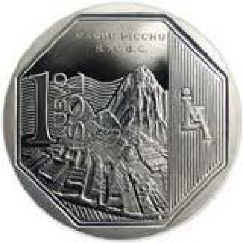 Peru 1 nuevo sol 2011 - Machu Picchu