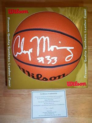 Alonzo Mourning autographed Wilson full size indoor/outdoor basketball