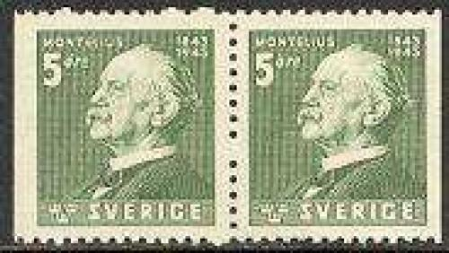 O. Montelius booklet pair; Year: 1943