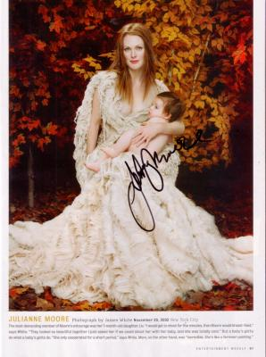 Julianne Moore autographed full page magazine photo