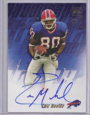 Eric Moulds certified autograph Buffalo Bills 2001 Topps card