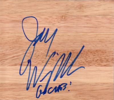 Jay Wright (Villanova) autographed 6x6 basketball hardwood floor