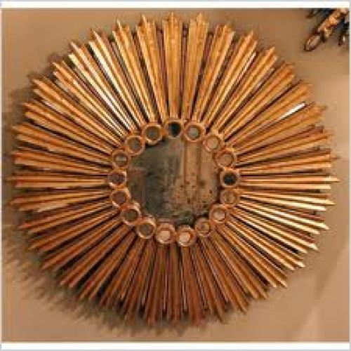 Antiques; 1940's Antique Sunburst Mirror