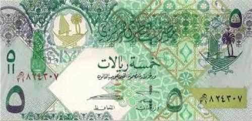Qatar Banknote. Qatar,5 Riyals, 2008.