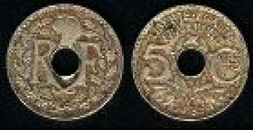 5 centimes; Year: 1920-1938; (km 875)