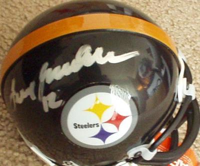 Terry Bradshaw autographed Pittsburgh Steelers mini helmet