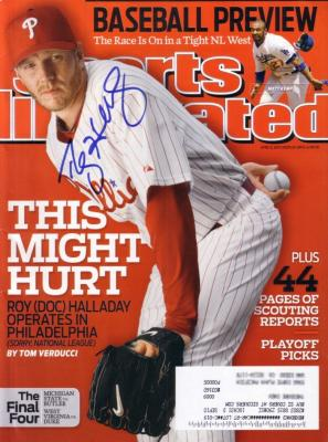 Roy Halladay autographed Philadelphia Phillies 2010 Sports Illustrated
