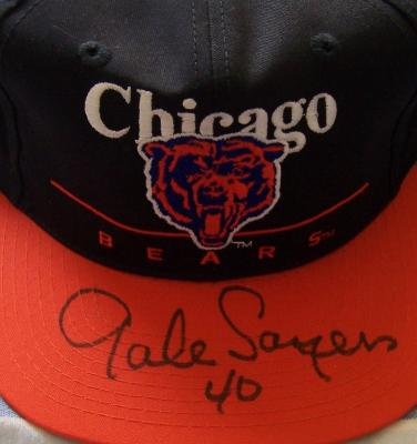 Gale Sayers autographed Chicago Bears cap