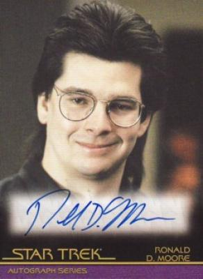 Ronald D. Moore Star Trek certified autograph card