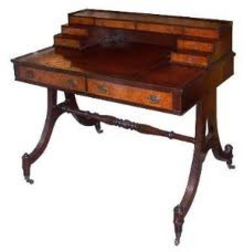 Antiques; 1940's Desk In The Carlton House Style, Vintage Furniture