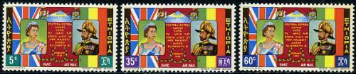 Visit of Elizabeth II 3v; Year: 1965