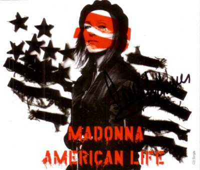 Madonna autographed American Life CD single insert
