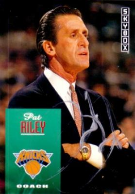 Pat Riley autographed New York Knicks 1992-93 SkyBox card