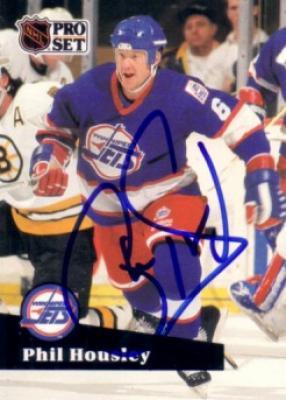 Phil Housley autographed Winnipeg Jets 1991-92 Pro Set card