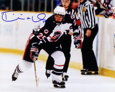 Tricia Dunn autographed 1998 USA Hockey 8x10 photo