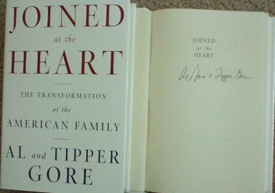 Al & Tipper Gore autographed Joined at the Heart hardcover book