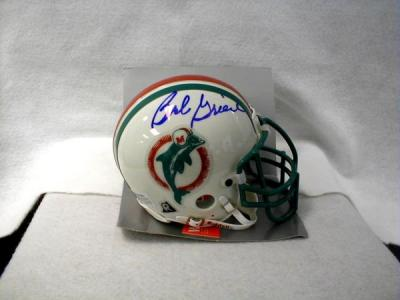 Bob Griese autographed Miami Dolphins authentic throwback mini helmet (TSC)