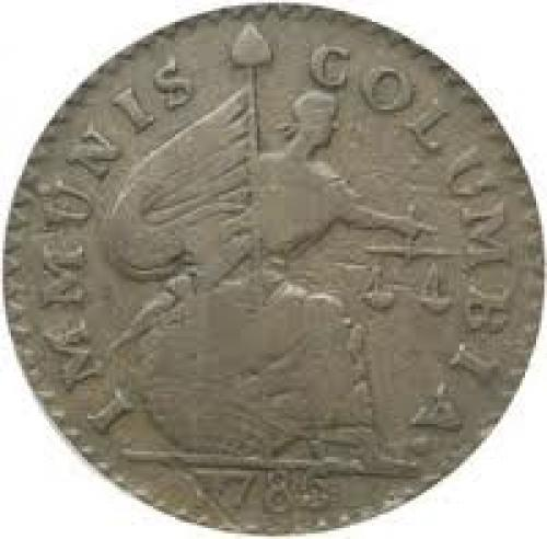 Coins; Obverse of 1786 Immunis Columbia Pattern